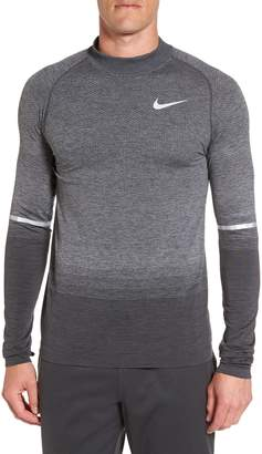 Nike Dry Running Mock Neck Long Sleeve T-Shirt