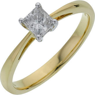 4ea8bdffb order at argos everlasting love 18ct gold 0.50ct diamond princess cut  diamond ring size v
