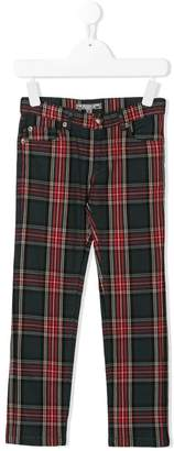 Bonpoint slim-fit tartan trousers
