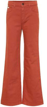 ALEXACHUNG Stretch-denim flared jeans