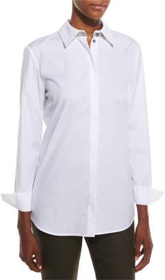 Lafayette 148 New York Stretch Cotton Brody Shirt, White