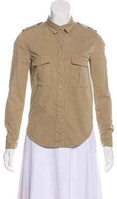 IRO Long Sleeve Button-Up Top