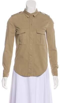 IRO Long Sleeve Button-Up Top
