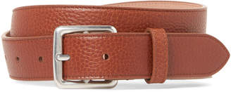 Mulberry Pebbled Leather Boho Buckle Belt