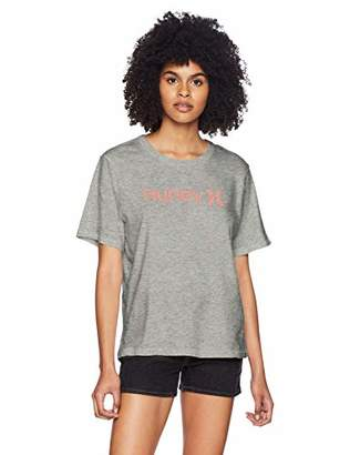 Hurley Women's Short Sleeve One & Only Perfect Crew T Shirt