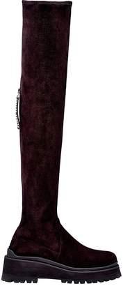 Miu Miu Stretch Faux-suede Knee-high Boots