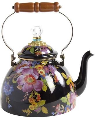 Mackenzie Childs MacKenzie-Childs - Flower Market Enamel Tea Kettle - Black - Small