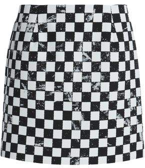 Marc Jacobs Cotton Wool And Silk-Blend Mini Skirt