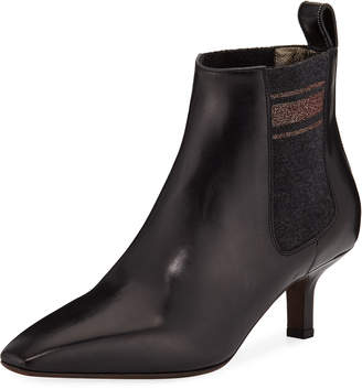Brunello Cucinelli Calfskin City Ankle Booties