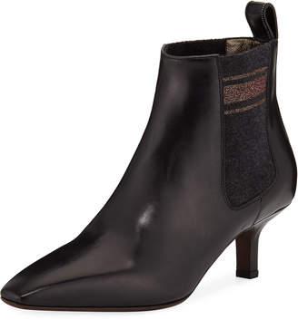 Brunello Cucinelli Calfskin City Ankle Booties