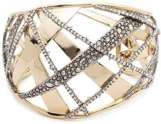 Alexis Bittar Crystal Crosshatch Cuff Bracelet