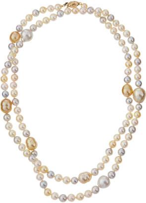 Belpearl Long Multicolor Akoya & South Sea Pearl Necklace