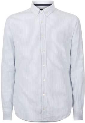 BOSS ORANGE Cotton Stripe Printed Shirt