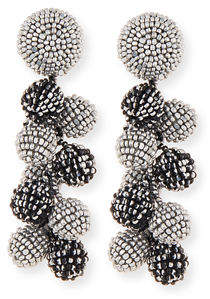 Sachin + Babi Two-Tone Coconut Beaded Clip Eearings