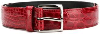 Orciani alligator embossed belt
