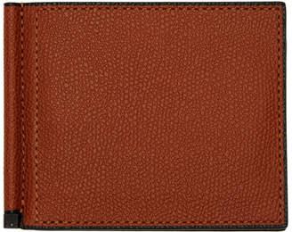 Valextra Red Simple Grip Spring Wallet
