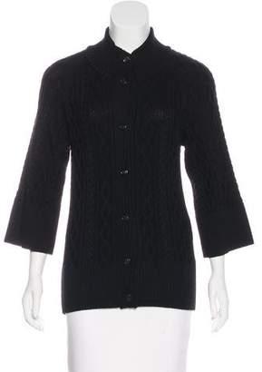 Luciano Barbera Wool Knit Cardigan