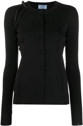 Prada shoulder bow cardigan