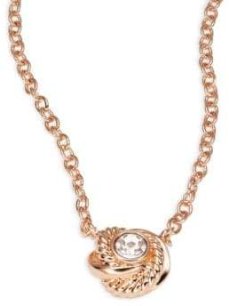 Kate Spade Infinity and Beyond Rose Goldtone Mini Pendant Necklace