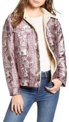 Scotch & Soda Fleece Lined Print Trucker Jacket