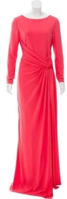 Elie Saab Ruched Long Sleeve Gown w/ Tags