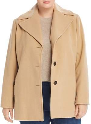 Calvin Klein Plus Notch-Collar Coat
