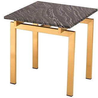 One Kings Lane Louve Side Table - Black/Gold