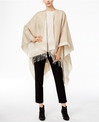 Eileen Fisher Wool-Blend Serape Poncho $218 thestylecure.com