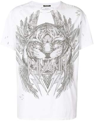 Balmain tiger print T-shirt