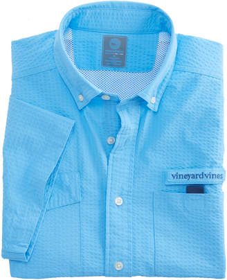 Vineyard Vines Short-Sleeve Brendal Solid Harbor Shirt