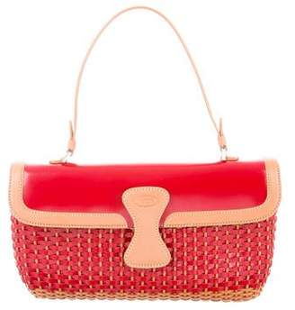 Tod's Woven Leather Handle Bag