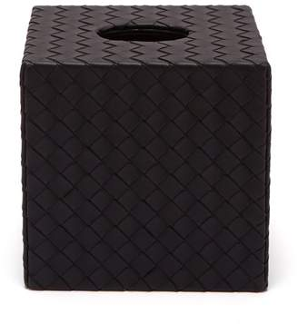 Bottega Veneta Intrecciato Leather Tissue Box Cover - Black