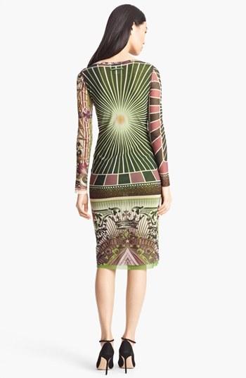 Jean Paul Gaultier Fuzzi Patchwork Print Tulle Dress