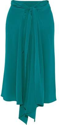 Tome Tie-front Silk Crepe De Chine Skirt