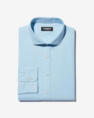 Express Slim Solid Wrinkle-Resistant Performance Dress Shirt