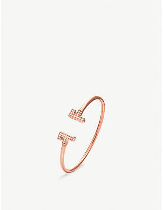 Folli Follie My FF rose gold plated cuff bracelet