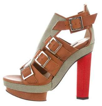 Chrissie Morris Lilla Cage Sandals w/ Tags