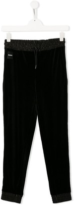 DKNY elasticated drawstring waist trousers