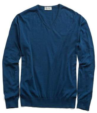 John Smedley Sweaters Sea Island Cotton Woburn Sweater in Indigo