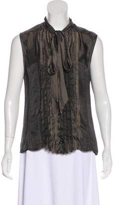 Marc Jacobs Sleeveless Pin Tucked Top