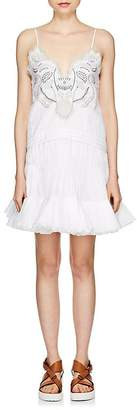 Chloé Women's Embroidered Cotton Poplin Minidress