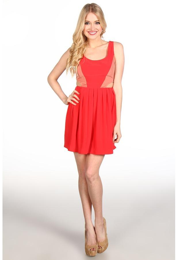 BB Dakota Ripley Dress (Watermelon) - Apparel