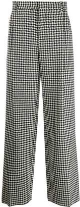 Loewe houndstooth straight trousers
