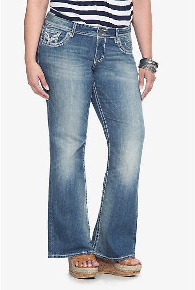 Vigoss Light Wash Double Stitch Lurex Boot Jeans