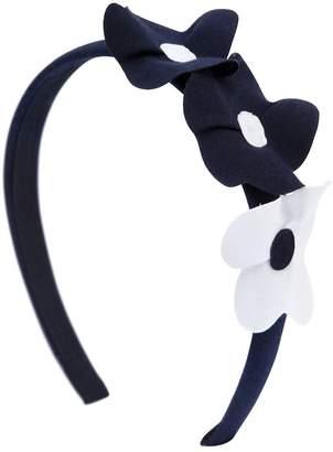 Il Gufo Cotton Jersey Headband W/ Flower Details