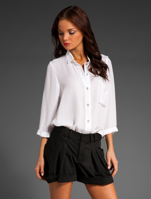 Myne Paula Semi Sheer Collared Shirt