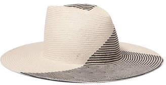Eugenia Kim Harlowe Two-tone Paper Hat - Ecru