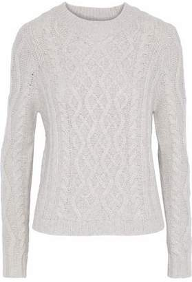 Autumn Cashmere Fisherman Cable-Knit Cashmere Sweater