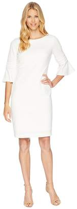 Calvin Klein Bell Sleeve Dress with Embroidery Detail CD8C19MF64 Women's Dress
