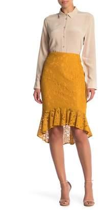 ECI Solid Ruffle Skirt